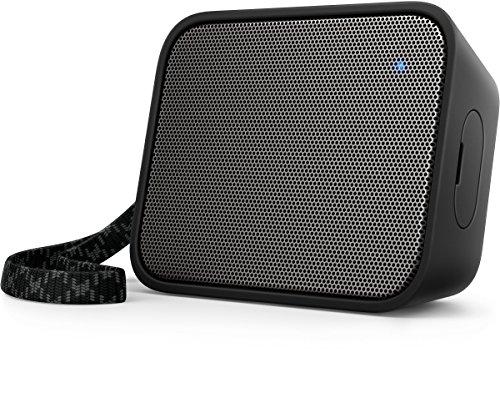 Philips BT110B PixelPop tragbarer Mini Bluetooth-Lautsprecher (Spritzwassergeschützt, 8 Std Akku) schwarz