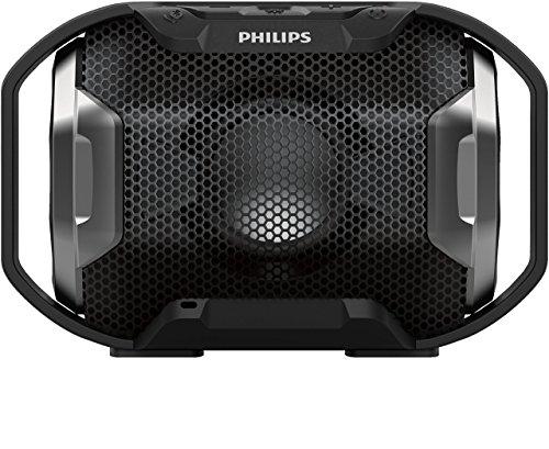 Philips SB300B/00 tragbarer Shoqbox Lautsprecher mit Bluetooth (wasserfest,stoßfest, mehrfarbiges L...
