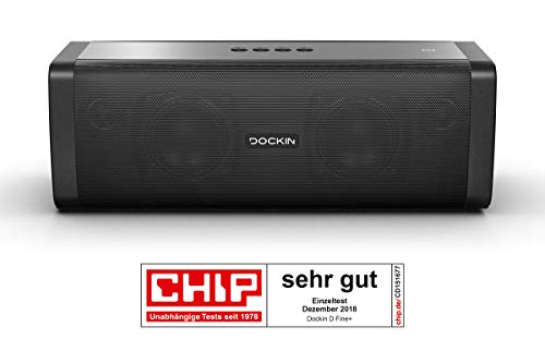 DOCKIN D FINE+ Hi-Fi Bluetooth Speaker - Lautsprecher für Indoor/Outdoor, 50 Watt, Wireless, einfac...