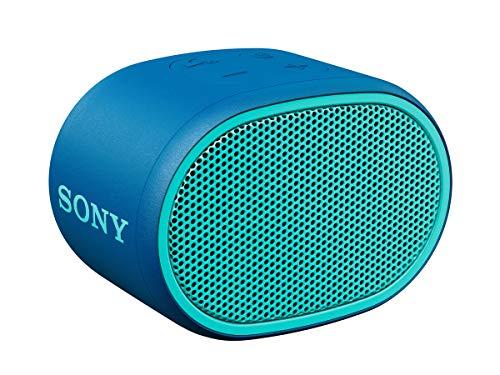 Sony SRS-XB01 tragbarer Bluetooth Lautsprecher (Extra Bass, 6h Akku, Spritzwassergeschützt) blau