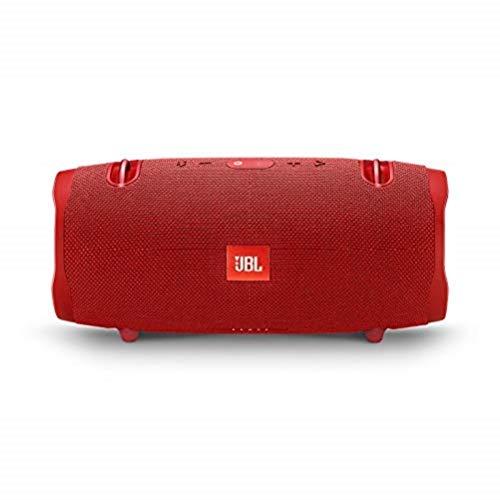 JBL Xtreme 2 Musikbox in Rot, Wasserdichter, portabler Stereo Bluetooth Speaker mit integrierter Powerbank, Mit nur einer Akku-Ladung bis zu 15 Stunden Musikgenuss