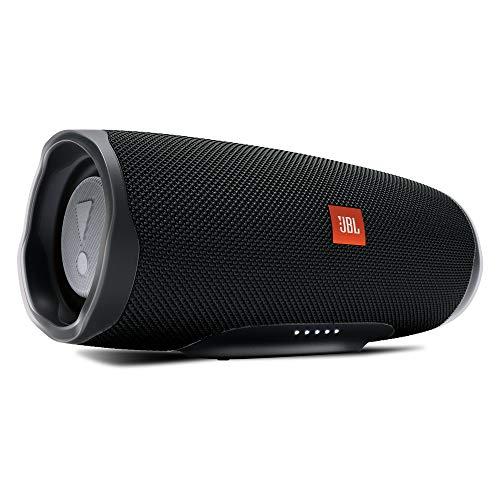 JBL Charge 4 Bluetooth-Lautsprecher in Schwarz, Wasserfeste, portable Boombox mit integrierter Power...