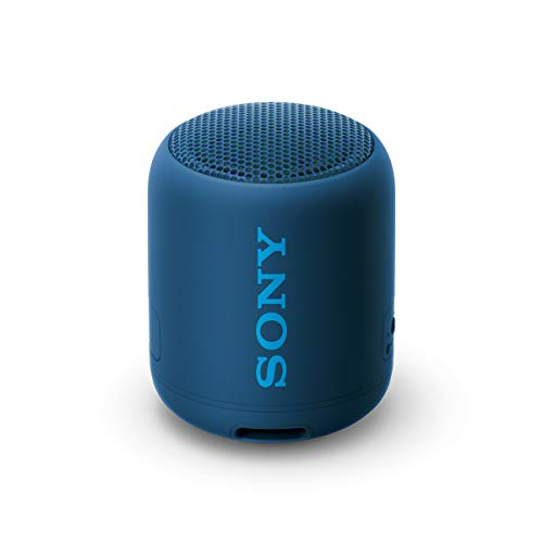 Sony SRS-XB12 Bluetooth Lautsprecher (tragbar, kabellos, Extra Bass, wasserabweisend) blau