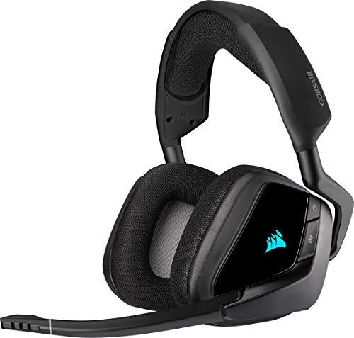 Corsair Void Elite RGB Wireless Gaming Headset (7.1 Surround Sound, Ultraniedrige Latenz, 12 Meter R...